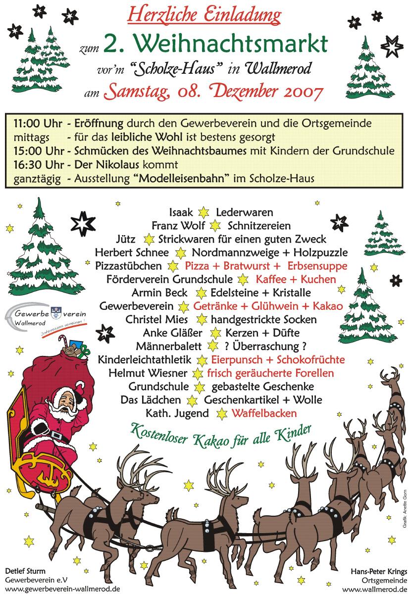 2. Wallmeroder Weihnachtsmarkt